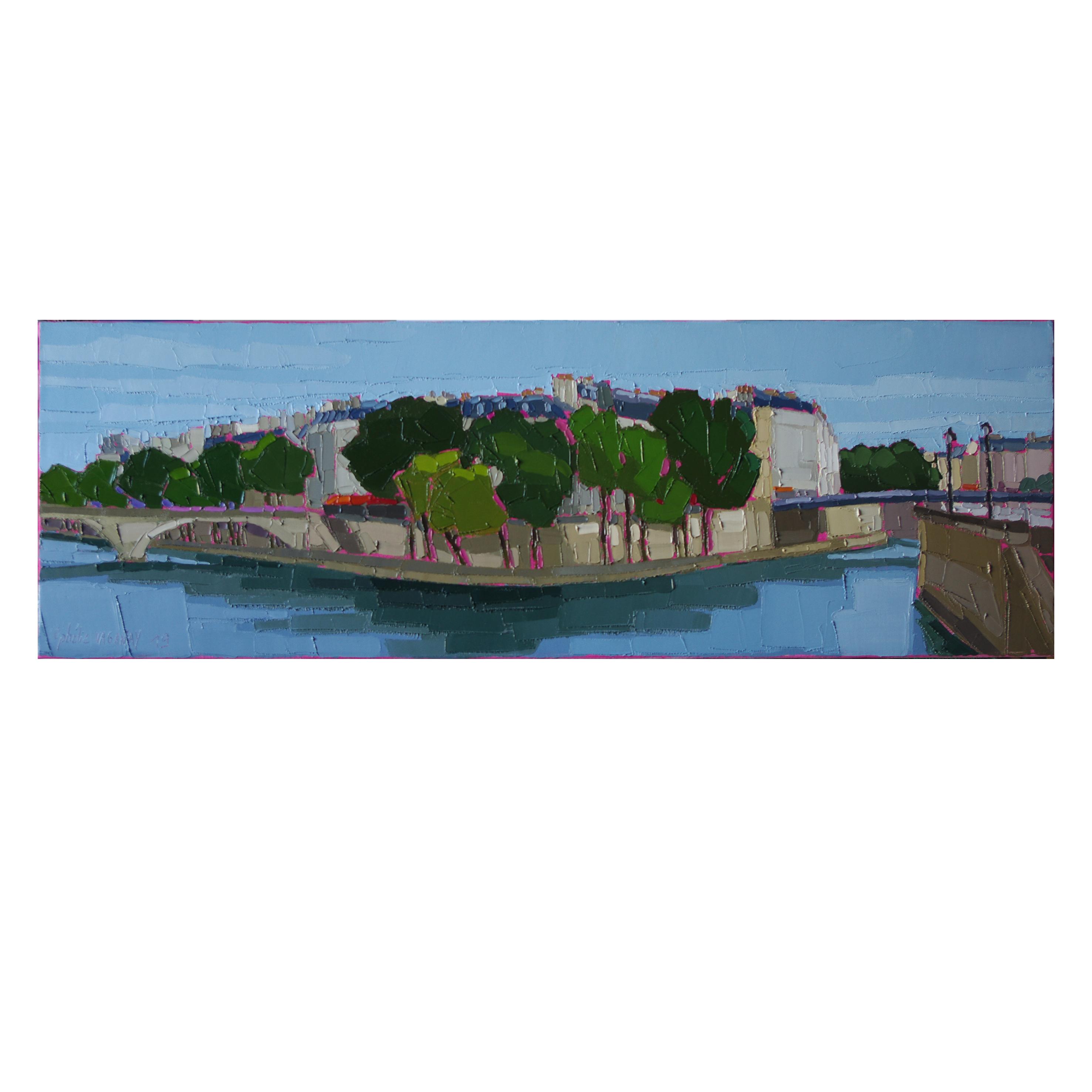 PARIS L'ILE SAINT LOUIS 90×30 vendu