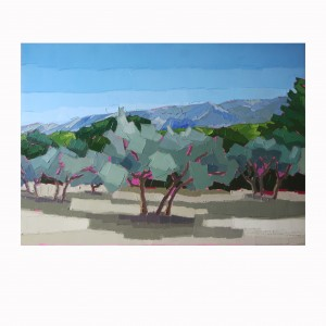 OLIVIERS ET SAINTE VICTOIRE AU LOIN 92×65