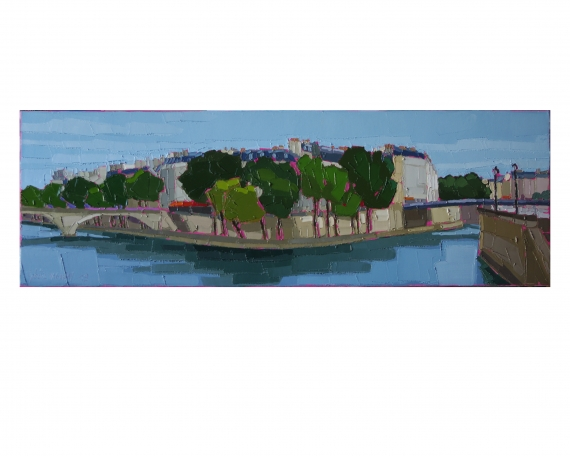 PARIS L'ILE SAINT LOUIS 90×30 vendu